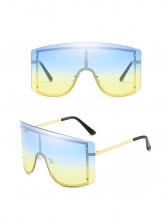 Gradient Color Sun-Shade Trendy Large Sunglasses