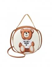 Cartoon Bear Printed Round Handbag For Women