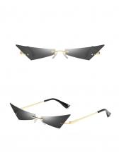 European Design Triangle Cat Eye Pattern Sunglasses