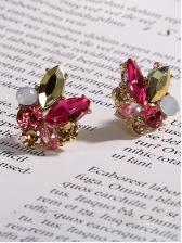 Charming Multicolor Rhinestone Earrings For Women