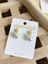New Style Simple Pearl Decor Women Earrings