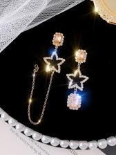 Elegant Asymmetric Star Shine Ladies Earrings
