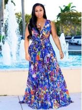 Hot Sale Printed Sleeveless Maxi Dress