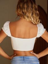 Low-cut Zipper Up Solid Women Blouse