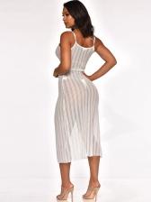 Sexy V Neck Tie Wrap Straps Dress