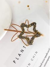 Rhinestone Patchwork Five-pointed Star Hair Clip