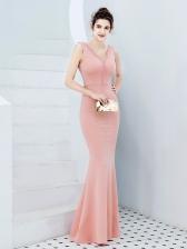 Graceful Sleeveless Fishtail Tassels Evening Dresses