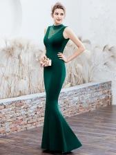 Graceful Beading Decor Sleeveless Fishtail Evening Gown Dresses
