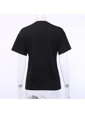 Ins Crew Neck Printed Loose T-shirt