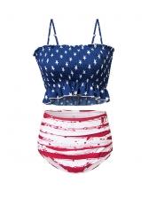 New Arrival Printed High Waist Bikini Set