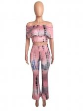 Hot Sale Tie Dye Wide Legs Night Club Women Suits