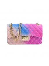 Gradient Color Diamond Pattern Chain Bag