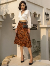 Fashion Animal Printed High Waisted Skirt