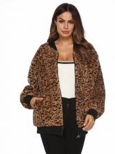 Winter Leopard Printed Ladies Short Coats