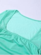 Sexy Gauze Patchwork Long Sleeve Bodycon Dress