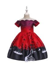 Halloween Printing Large Swing Girls Maxi Dress