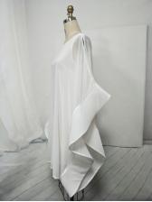 Bat Sleeve Loose Solid Chiffon Dress