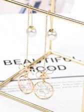 Bowknot Dreamcatcher Faux Pearl Earrings For Women