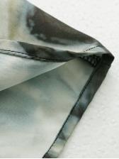 Smart Waist Tie Dye Long Sleeve Dress