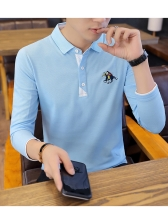 New Style Solid Embroidery Mens Polo Shirts