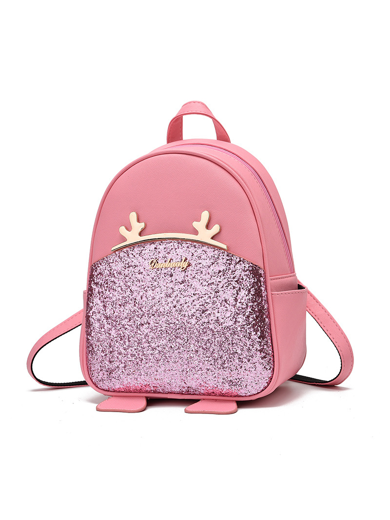 Cute Metal Antler Patchwork Mini School Backpacks