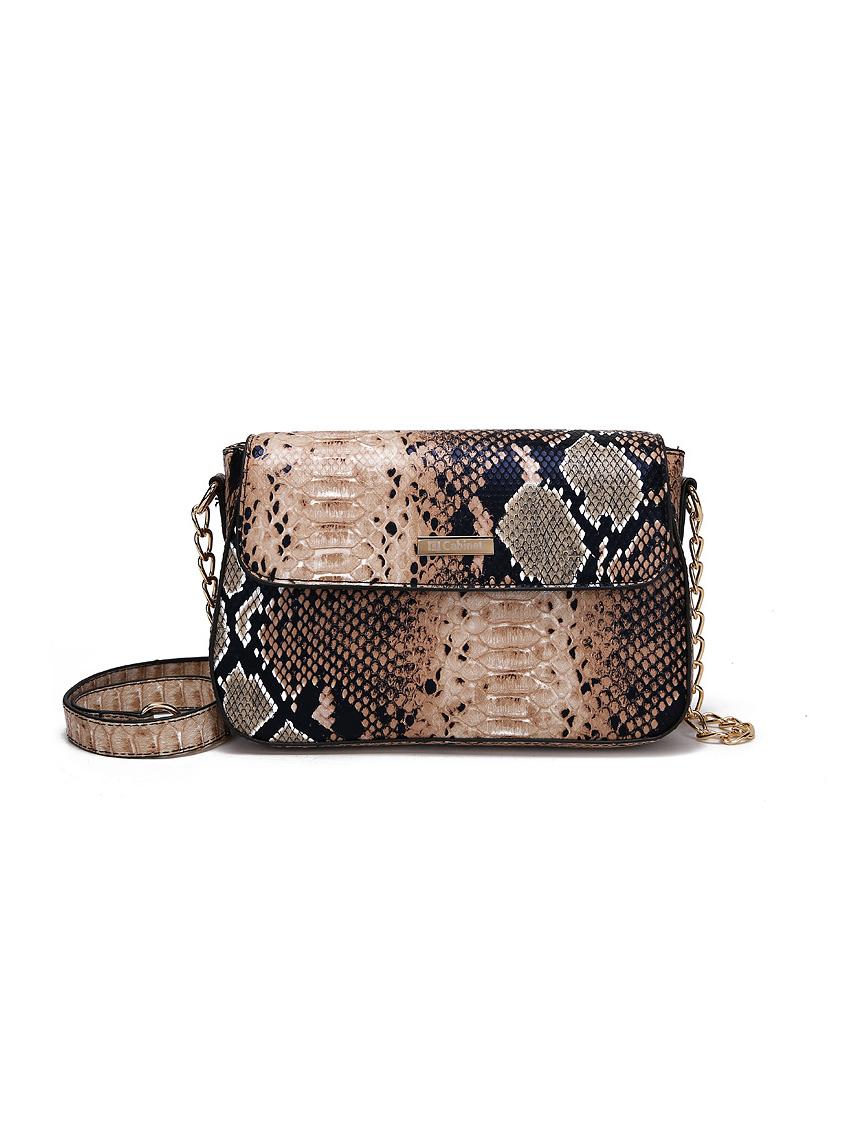 Euro Snake Print Crossbody Bags For Women