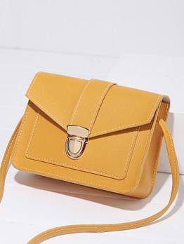 New Arrival Solid Versatile Casual Hasp Shoulder Bag