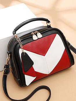 Fashion Contrast Color Shoulder Bags For Women