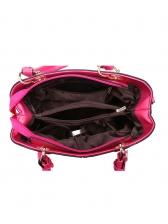 Fashion Solid Color Metal Splicing Handbags