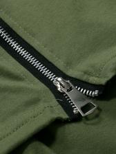 Fashion Zipper Design Short Sleeve Casual T-shirt
