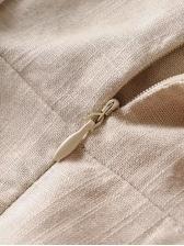 Square Neck Ruffles Hem Puff Sleeve Ladies Blouse