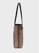 Fashion Snake Print Tote Bags Two Piece Sets