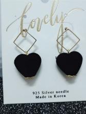 Sweet Heart Shape Female Earrings