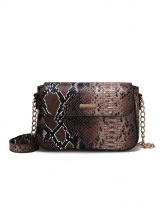 Euro Snake Print Crossbody Bags For Women