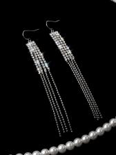 Stylish Rhinestone Tassels Women Earrings