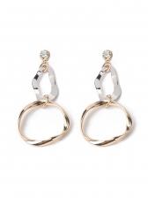 Fashion Irregular Geometric Loop Zircon Earrings
