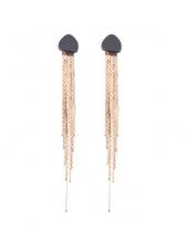 Modern Geometric Shape Tassels Earrings