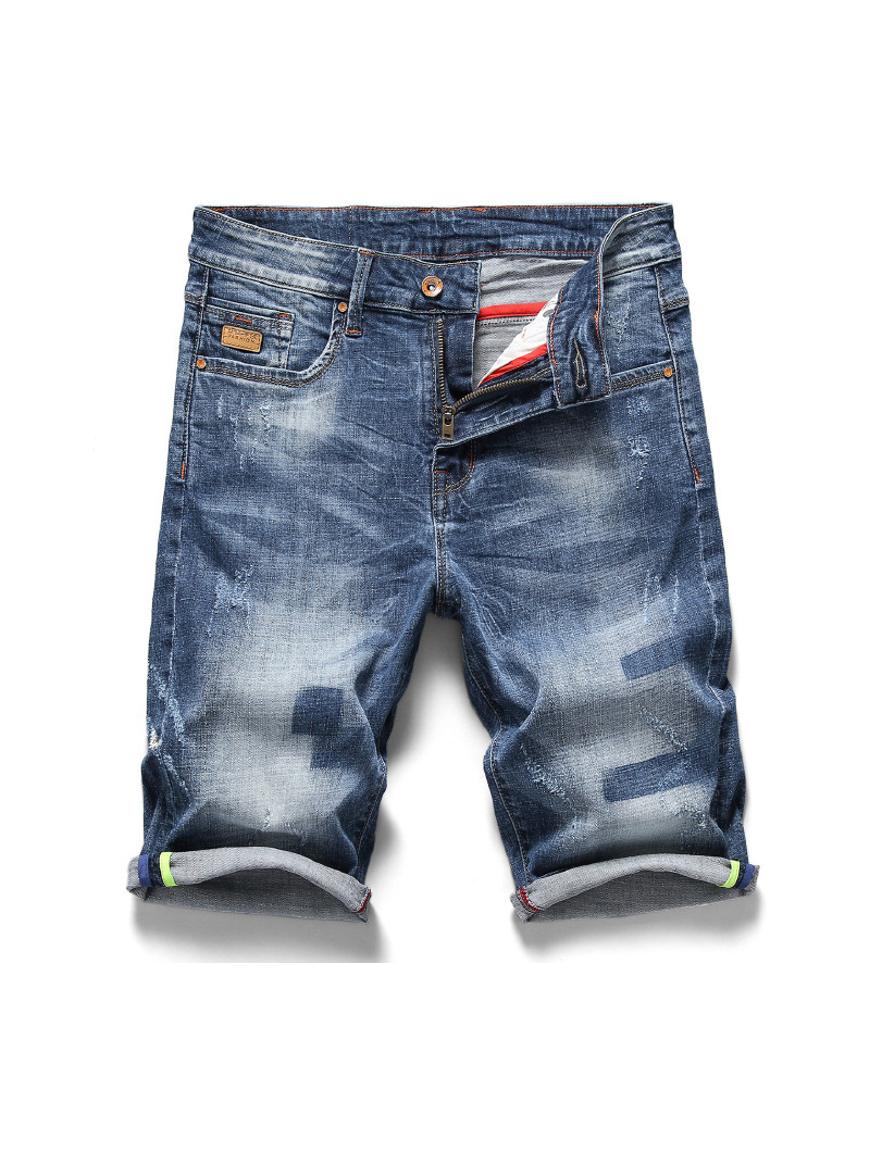 Casual Short Ripped Jeans For Men