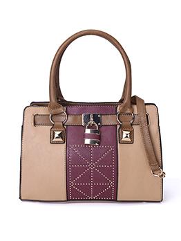Ol Style Contrast Color Ladies Handbag