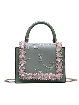Embroidery Square Handbag For Women