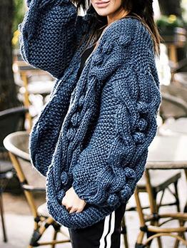 New Arrival Wool Ball Loose Cardigan Sweater