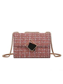 Fashion Plaid Hasp Shoulder Bag