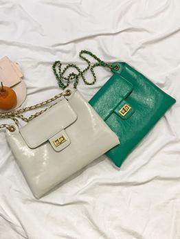 Elegent Solid Color Women Shoulder Bags