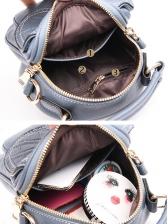 Metal Lock Stone Pattern Mini Crossbody Bag
