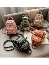 Casual Fashion Rivet Mini Backpacks
