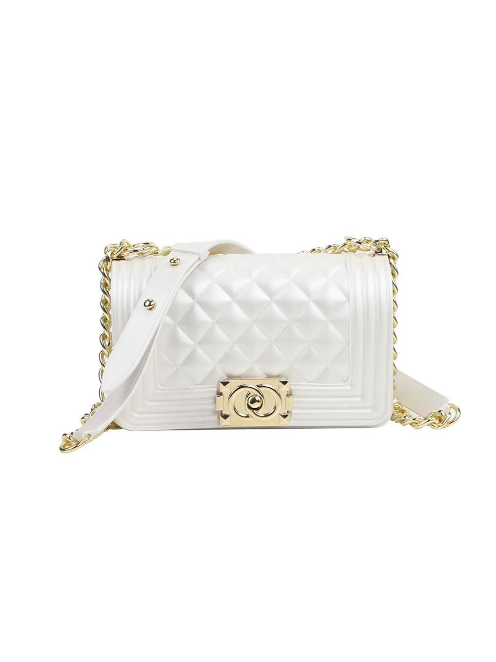 Solid Diamond Pattern Mini Size Female Shoulder Bag