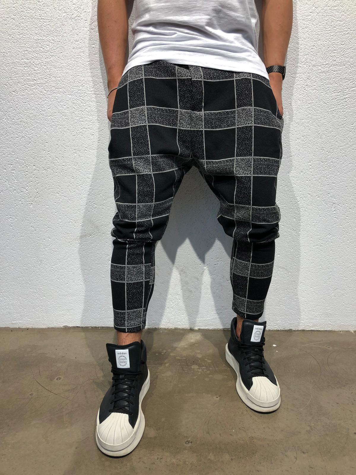 Casual Plaid Long Pants For Men