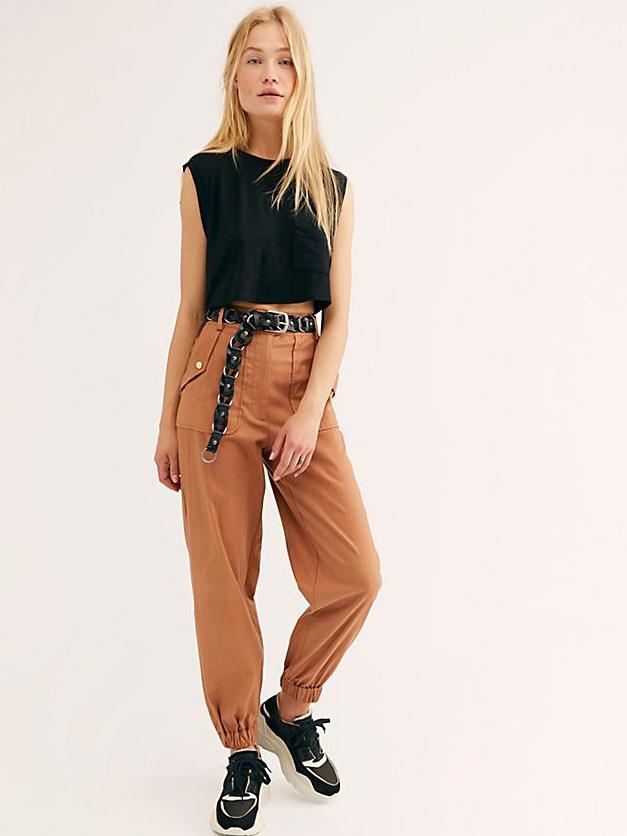 Fashion Pocket Cargo Long Pant For Women