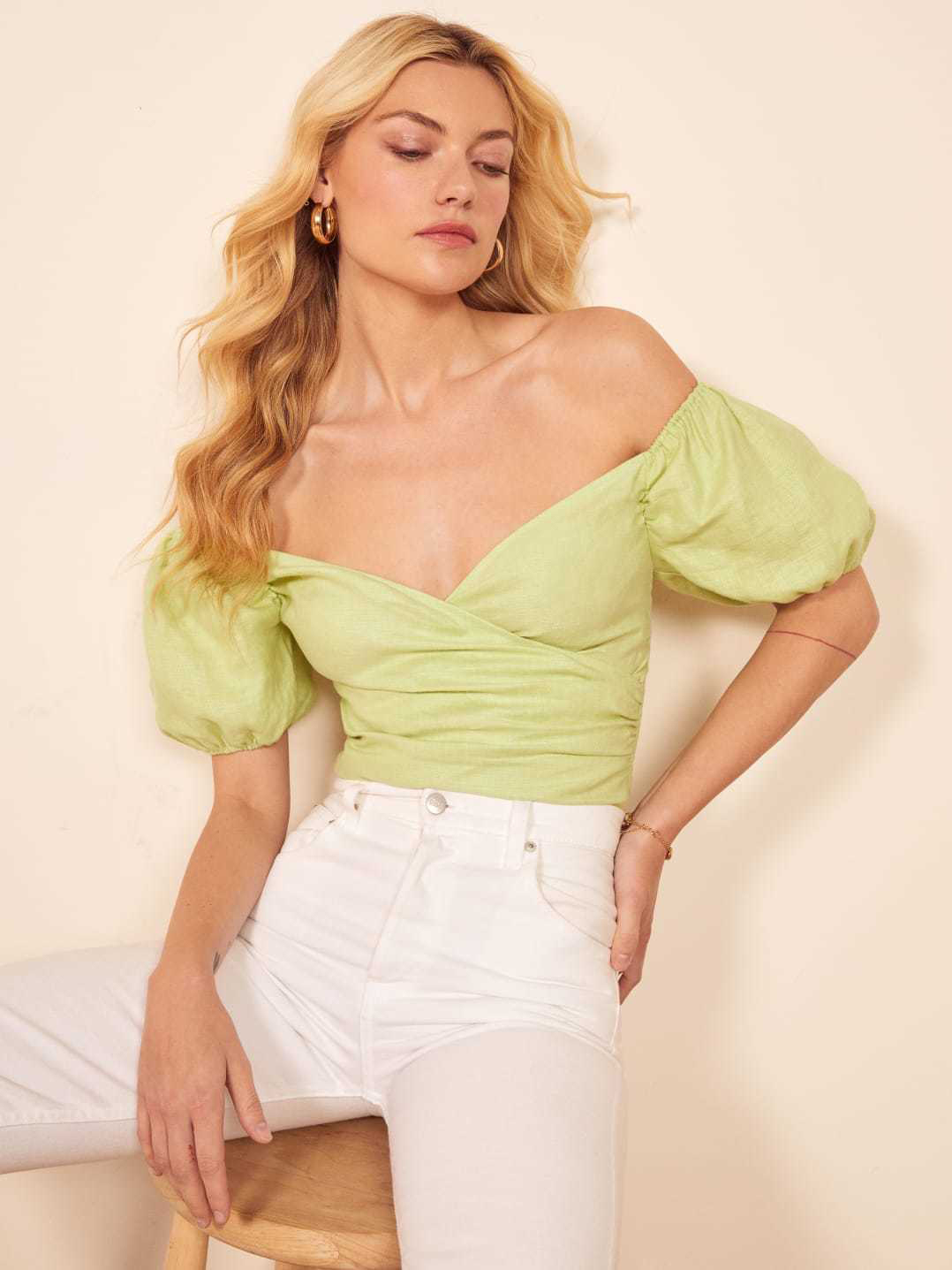 Sexy V Neck Solid Color Stretchy Women Blouse