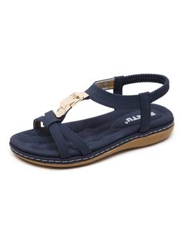 Bohemia Faux Jewels Flat Sandals